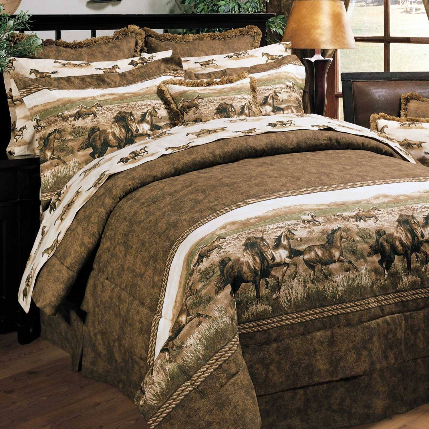 horse cabins in category zoom bedding carstens flying lodge comforters cabin by
