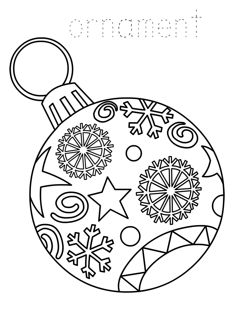 Printable-Christmas-Ornament-Coloring-Page.png (768×1024) | Картинки ...