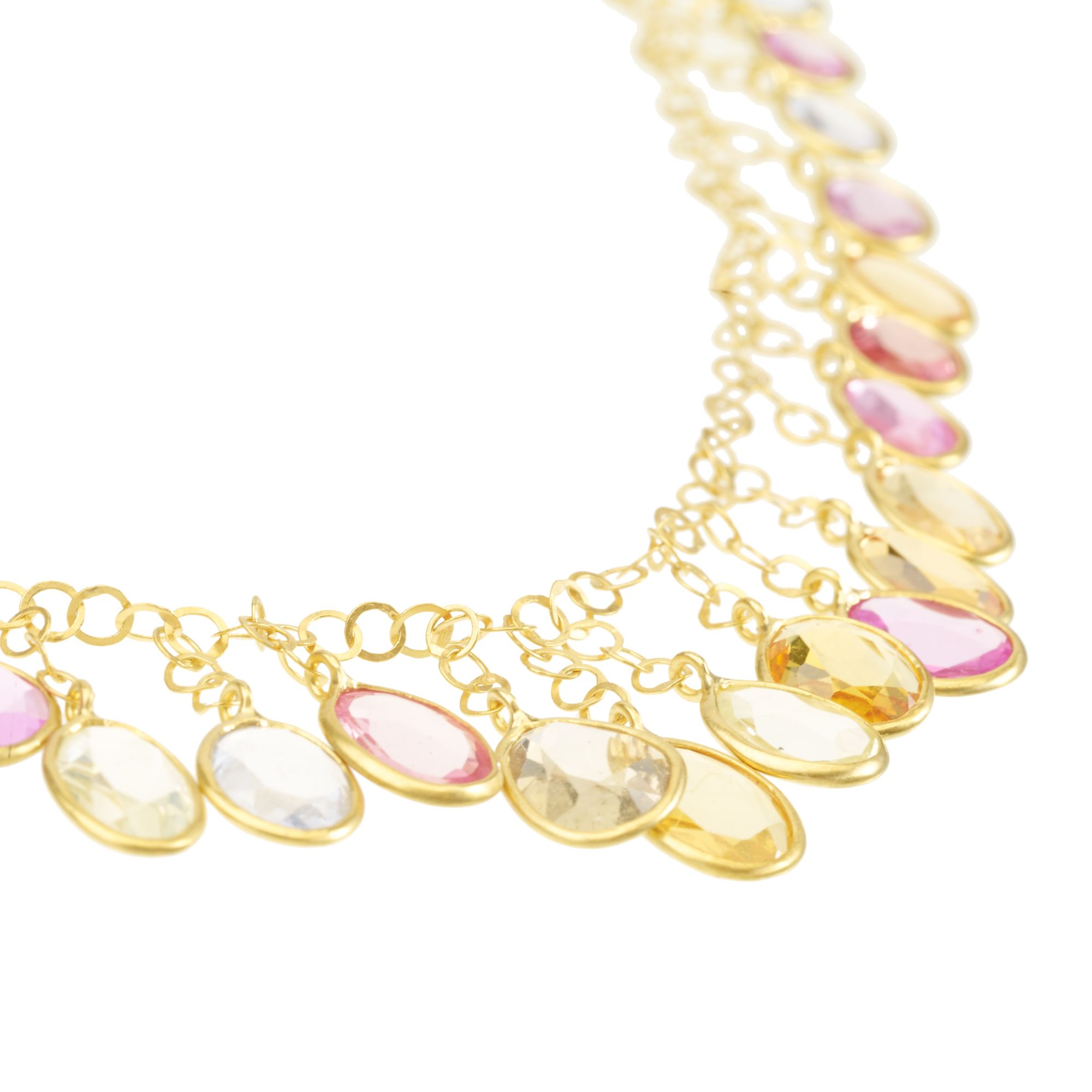 missguided lovely floral blush gem oblacoder necklace ravenna detail statement