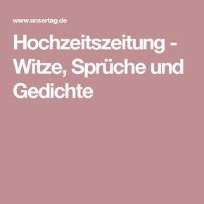 Hochzeitszeitung Witze Sprüche Und Gedichte In 2019