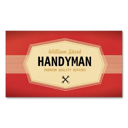 Vintage handyman business cards business cards business and logos vintage handyman business cards reheart Image collections