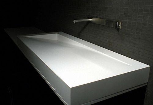 Corian Waschbecken design waschtisch aus lg hi macs oder auf wunsch aus corian made