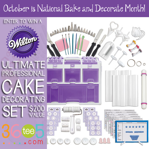 October Is National Bake And Decorate Month Enter To Win A 200 Wilton Ultimate Professional C Cake Decorating Set Cake Decorating Kits Wilton Cake Decorating