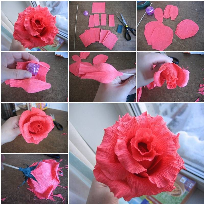 How to make rose of chocolates step by step diy tutorial for Flower making ideas step by step