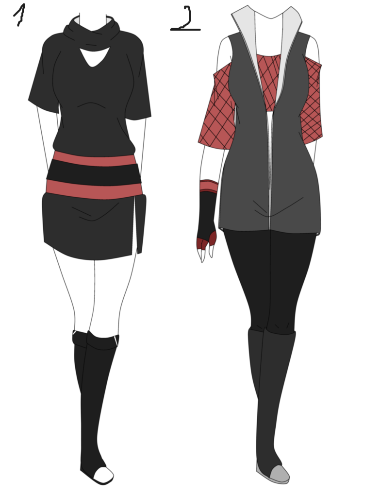 Naruto Outfit aution adoptable batch 2 (OPEN) by Yuno on