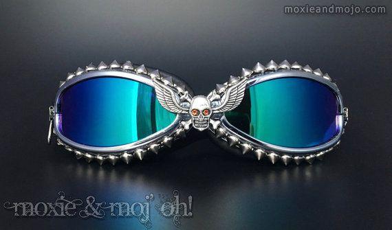 Burner Goggles: Ghost Rider  Anti-Dust by MoxieandMojoFashion