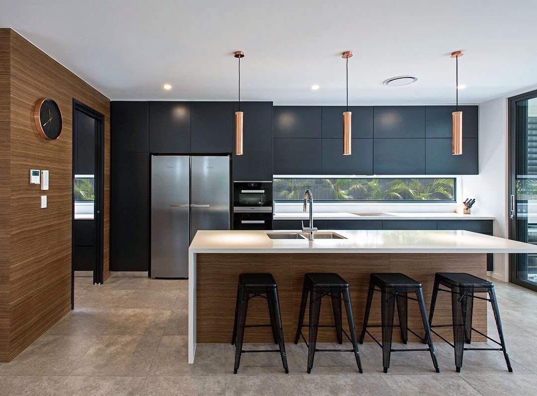 Image may contain kitchen, table and indoor   Modern kitchen ...