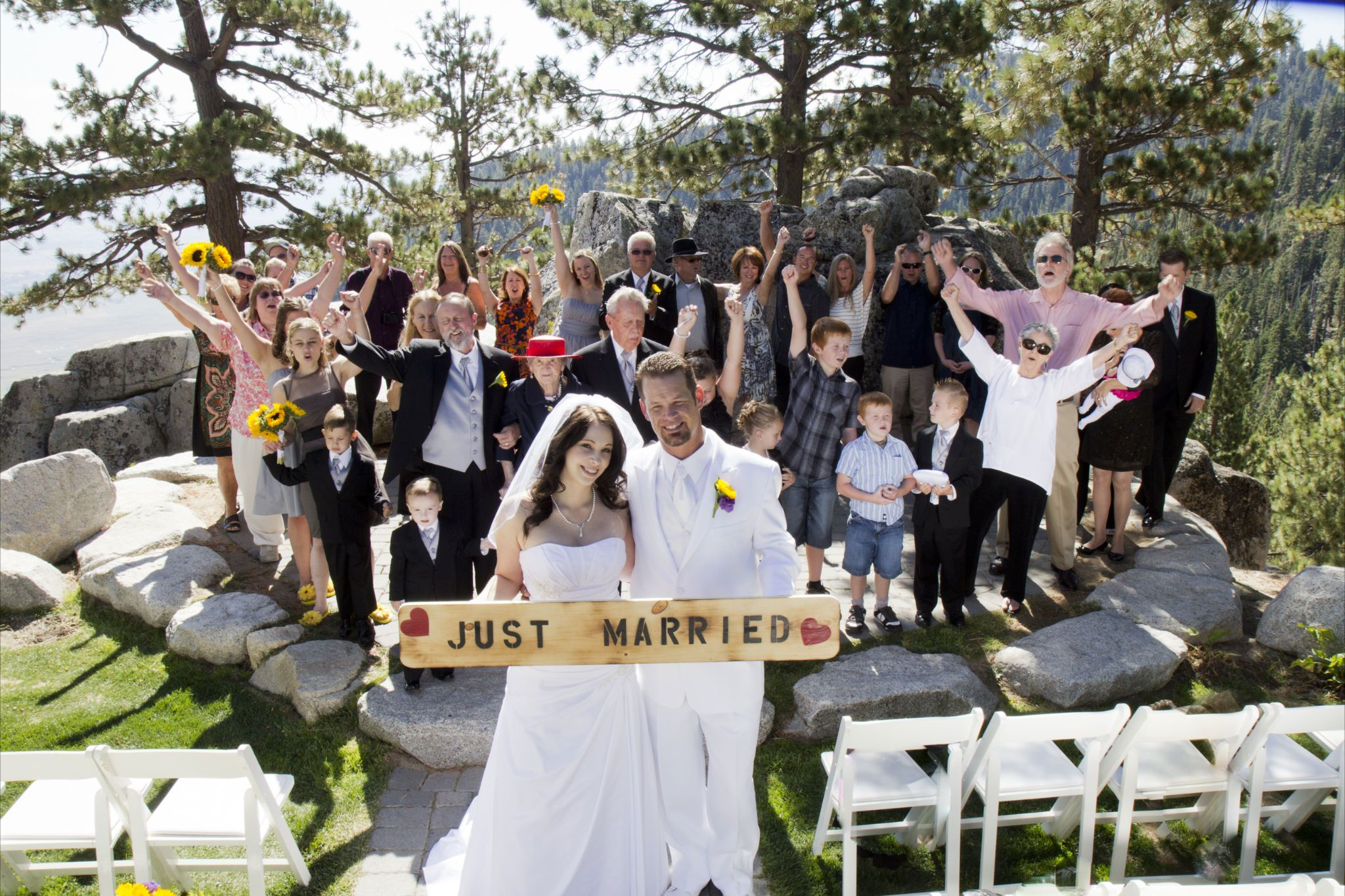 Just married south lake tahoe weddings tahoe wedding