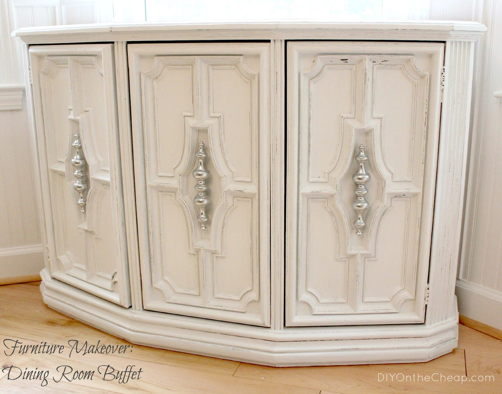 DIY On the Cheap: Furniture Makeover: Console Turned Buffet Table ...