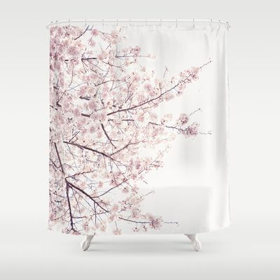 Pretty Cherry Blossom Shower Curtain Luxury Shower Curtain Bathroom Shower Curtains Curtains