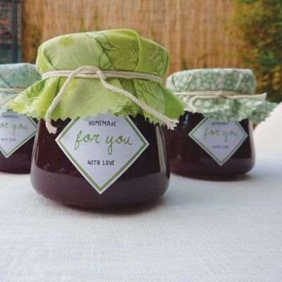 Free jam favour labels by Akimbo