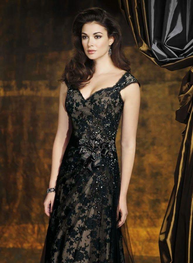 Simple Black Wedding Dress, Black Lace Wedding Dress | BLACK WEDDING ...