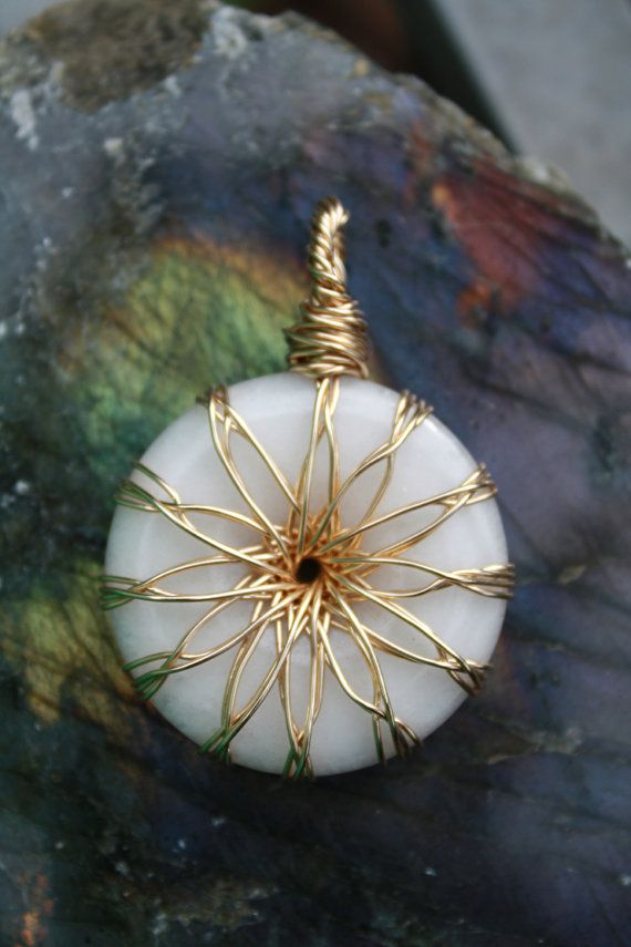 Gold Filled Vortex Energy Pendant Wire Wrap by TheMothersBlessing, $570.00 - fun wrap [that is a seriously ridiculous price!]