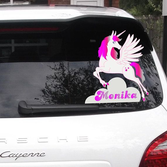 Custom name car sticker unicorn car decals car bumper sticker unicorn vinyl decals