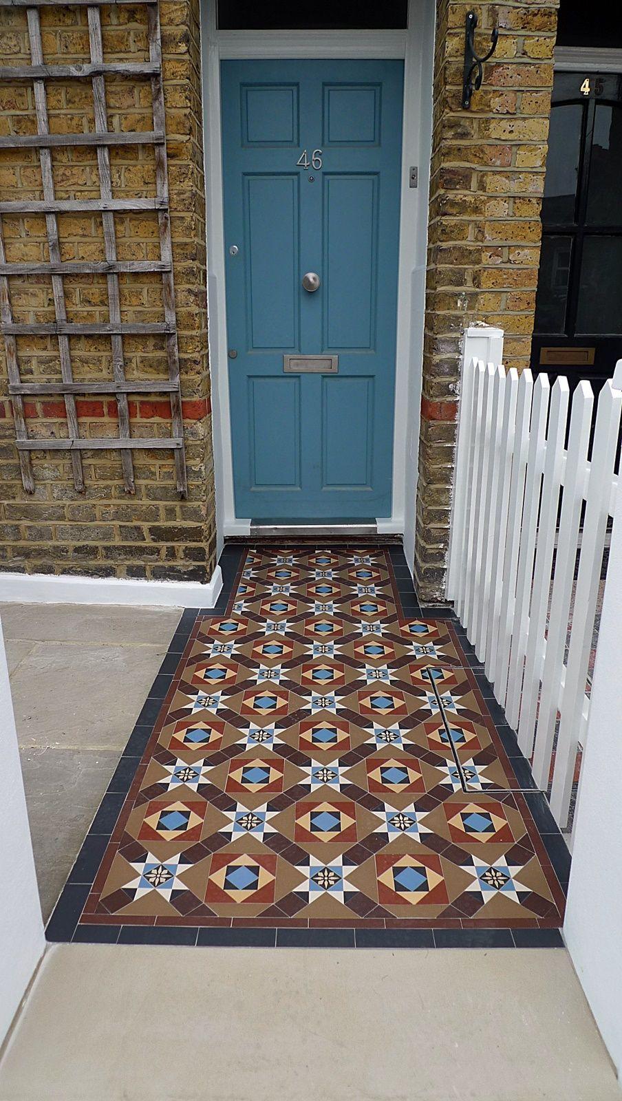 london front garden company victorian mosaic tile path york stone ...