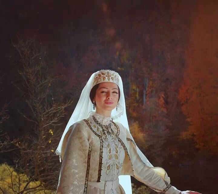 Armenian Lady In A Traditional Wedding Dress