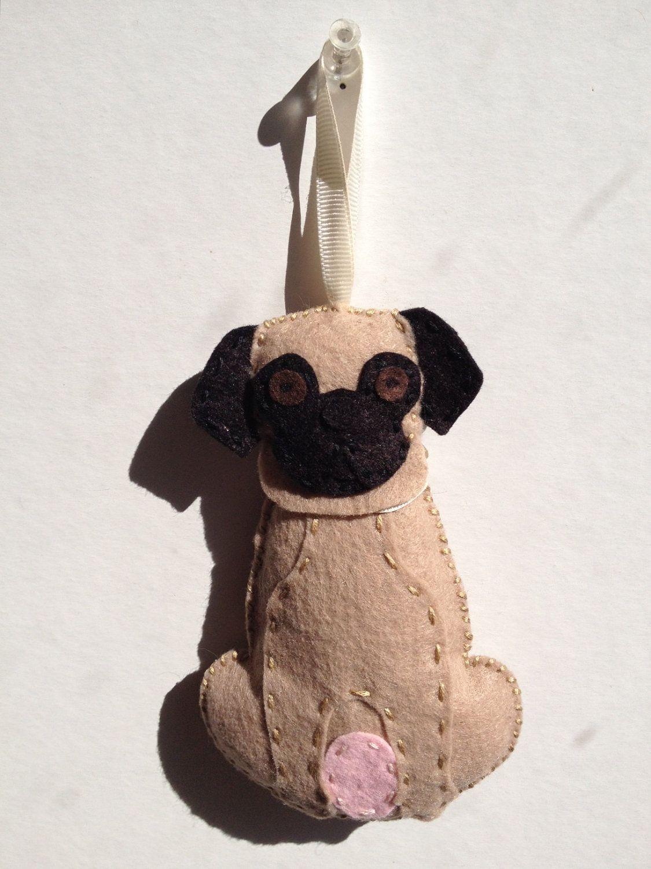 Dog Ornament Pug 1 24 75 Via Etsy
