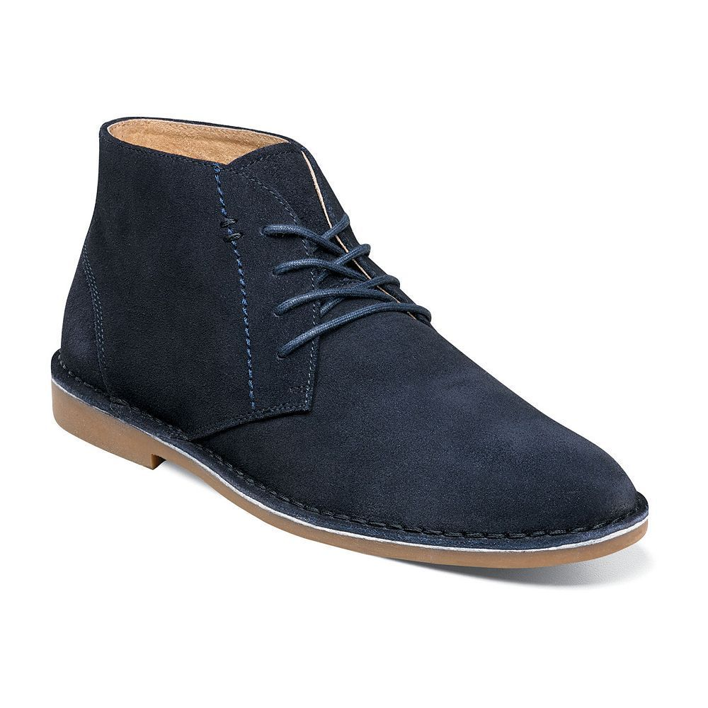 Nunn Bush Galloway Men's Suede Chukka Boots, Size: 10.5 Wide, Blue (Navy