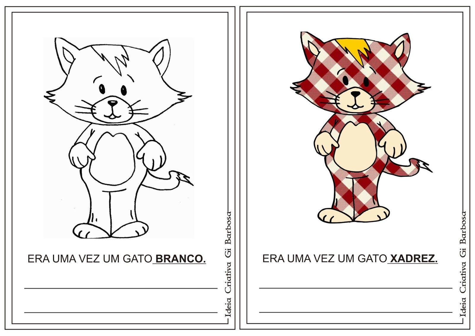 Livrinho Para Montar Era Uma Vez Um Gato Xadrez Com Imagens