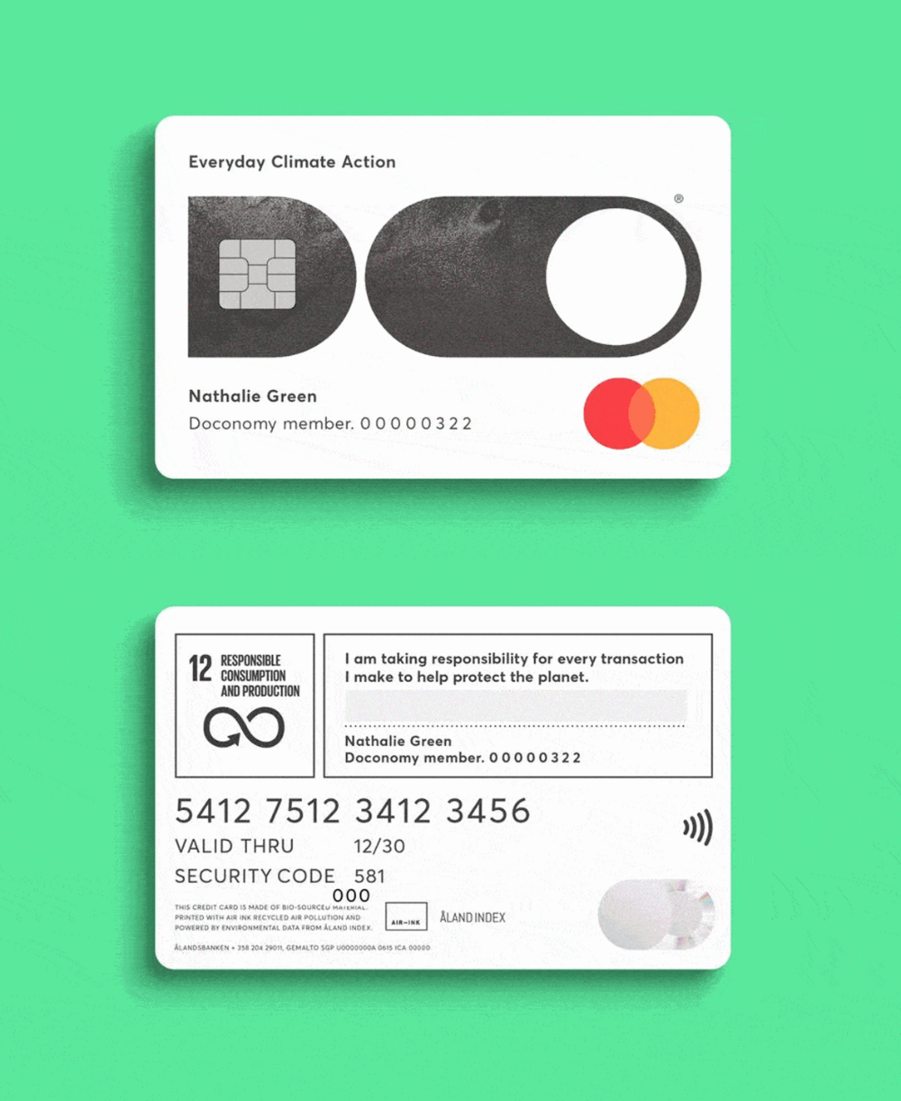 Doconomy Launches Credit Card With A Carbon Emission Spending Limit Credit Card Design Credit Card App Card Design
