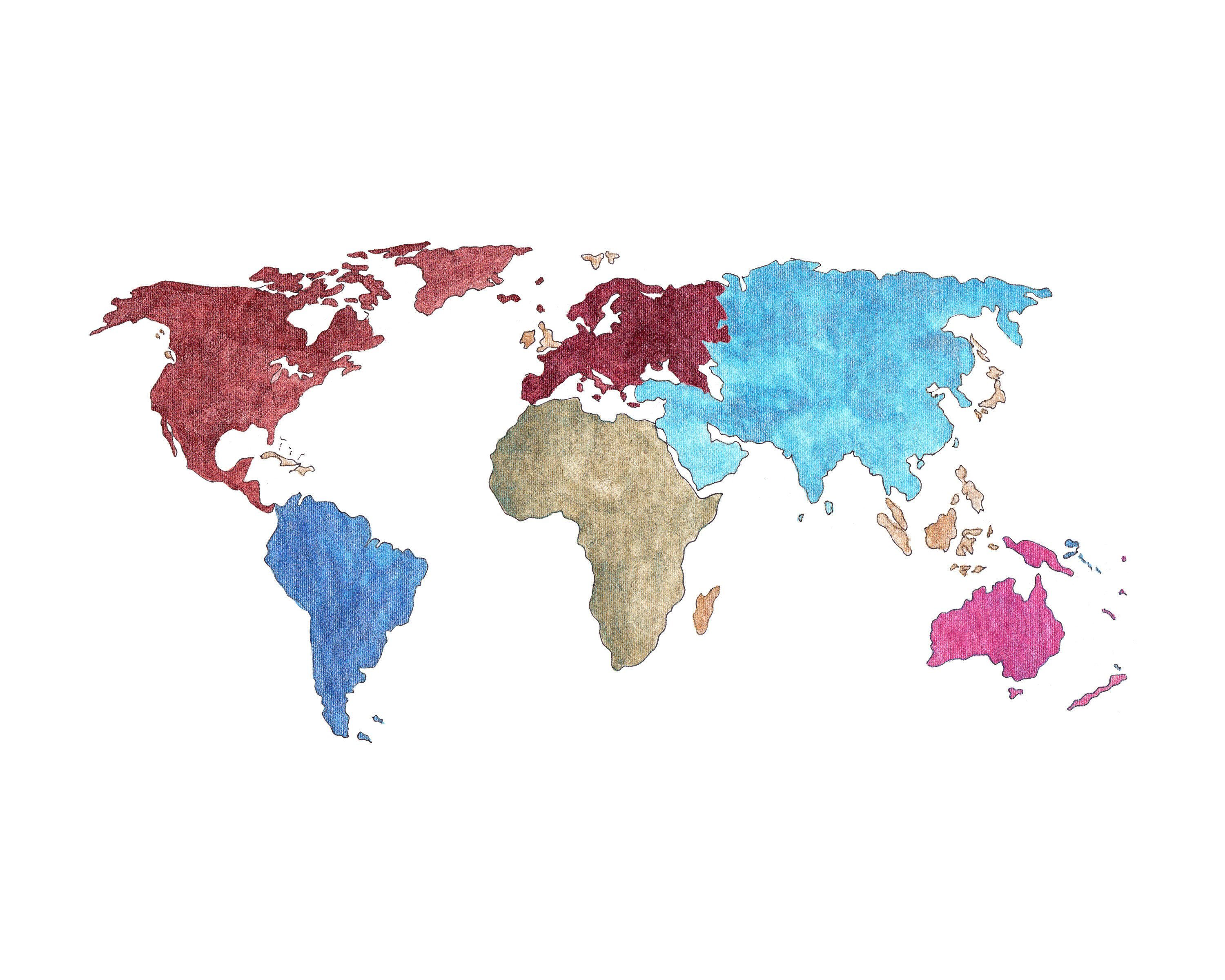 World Map Painting Map Of The World Watercolor Painting