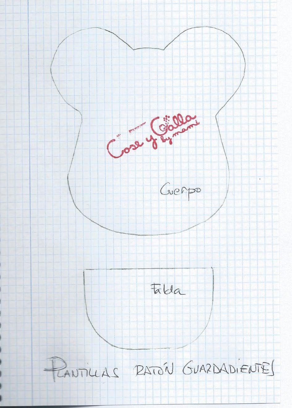 Plantilla Ratón Guarda-dientes - Archivos de Cose y Calla