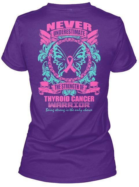 Thyroid Cancer Awareness Tee! Purple Women's T-Shirt Back