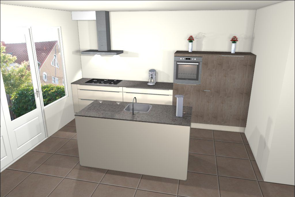 Een keuken met kookeiland is een veel gekozen keukenopstelling bekijk de 25 voorbeelden van for Kleine keukens fotos
