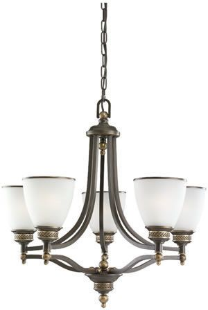Sea Gull 31350-782 5 Light Laurel Leaf Chandelier Heirloom Bronze