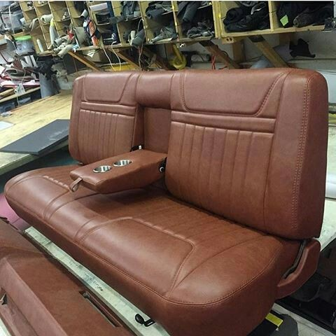 Truck Bench Seat With Fold Down Armrests Truck Interior Automotive Upholstery Custom Bench Seating