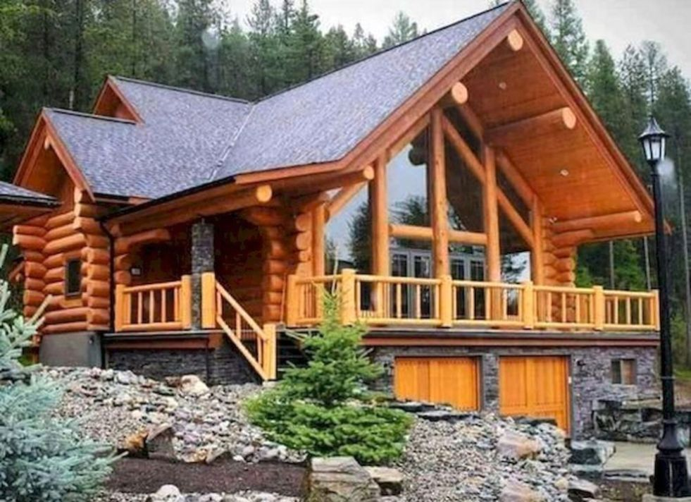 Best Small Log Cabin Ideas With Awesome Decoration 16 In 2020 Log Cabin Plans Log Cabin Floor Plans Small Log Cabin