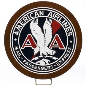 "Vintage American Airlines sticker decal 3/"" diameter"