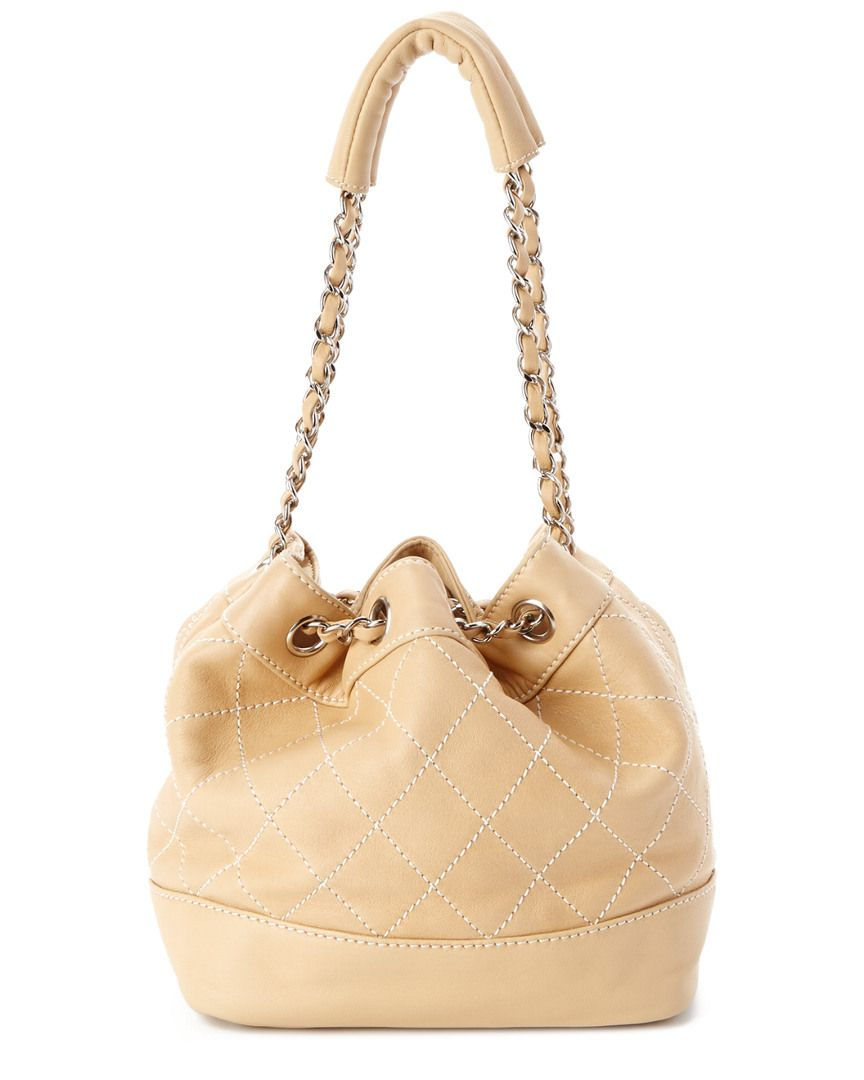 31e7933152ff2 Chanel Beige Quilted Lambskin Small Bucket Bag is on Rue.