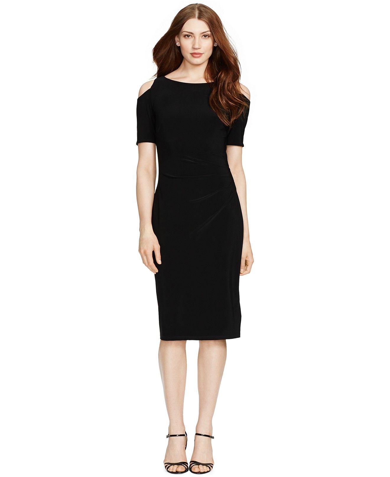 Lauren ralph lauren coldshoulder sheath dress dresses