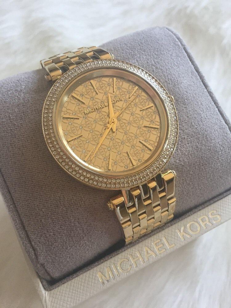 Michael Kors Women 039 S Darci Gold Tone Stainless Steel Watch Mk3398 Ebay Michael Kors Michael Kors Darci Kor