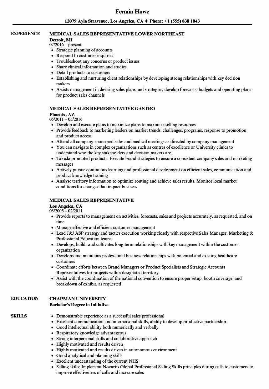 23 sales rep resume example in 2020 medical sales resume