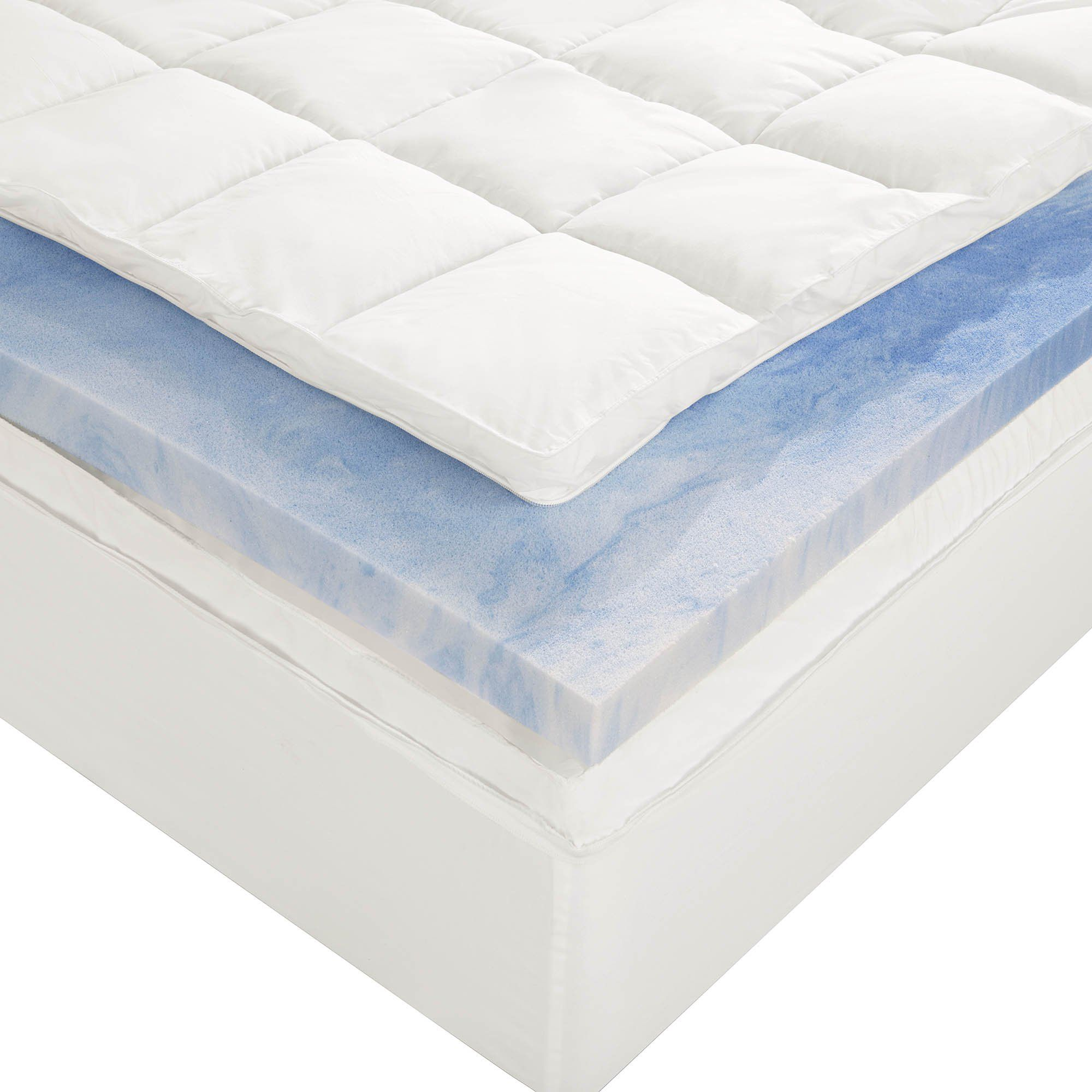 Amazon Com Sleep Innovations 4 Inch Dual Layer Mattress Topper