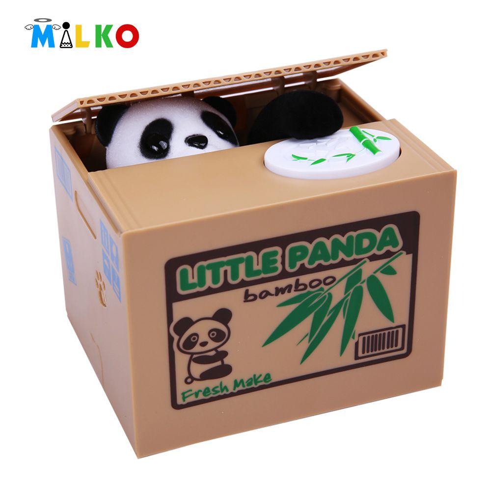 Fun box funny picture funny pic pic of fun funny image - Mischief Saving Box Panda Funny Toy Joke Automatic Electric Stole Coin Fun Useless Box Piggy Bank