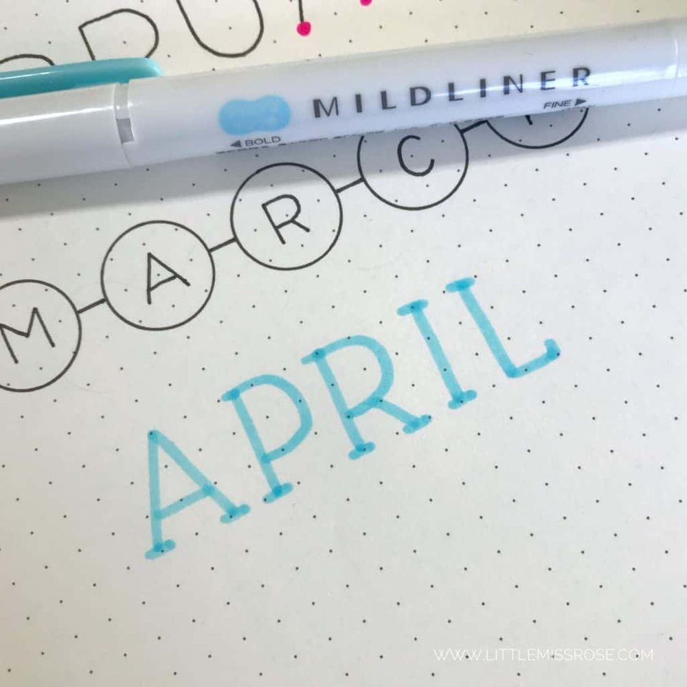 11 Simple Hand-Lettered Fonts For Your Bullet Journal | Little Miss Rose
