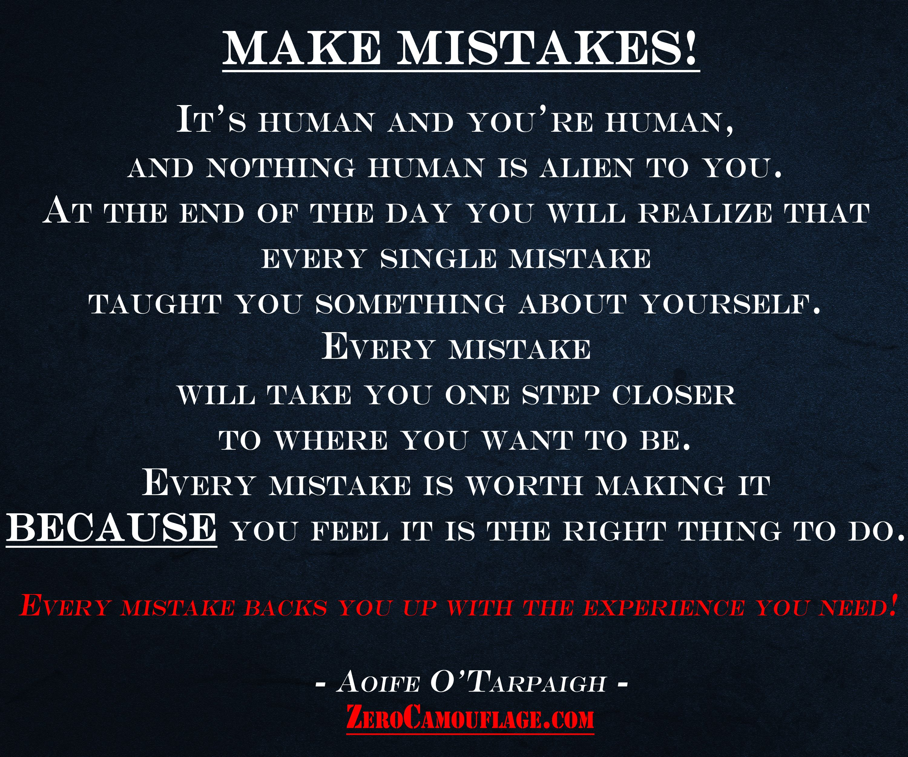 Make Mistakes! You Donu0027t Need Anyoneu0027s Permission To ...