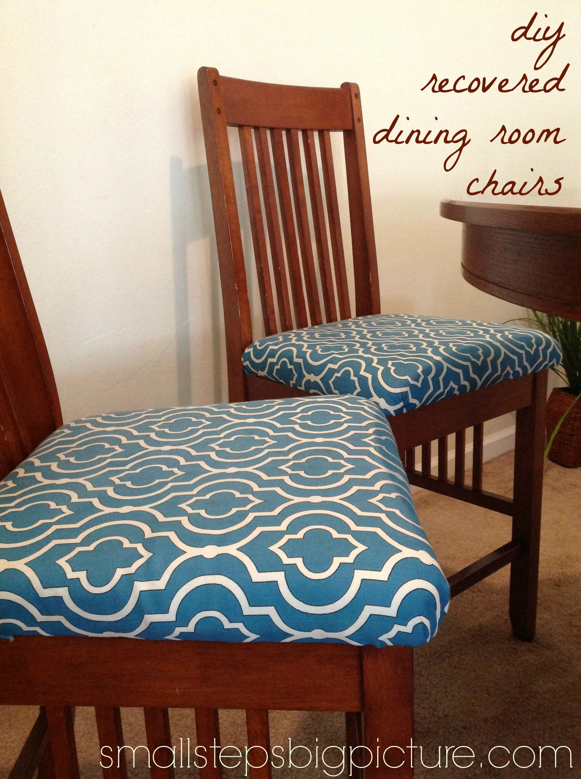 Dining Room Chairs Foam Batting Fabric Adhesive Great Tutorial In A Link