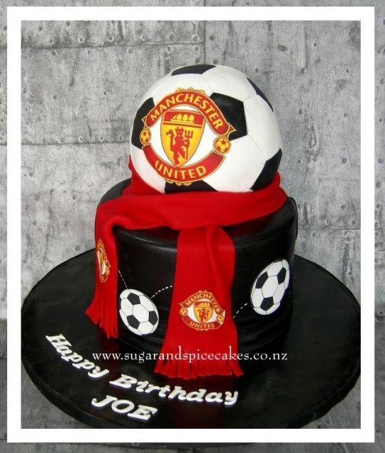 Manchester United Football Cake Birthday Cakes For Men Football Cake Soccer Cake