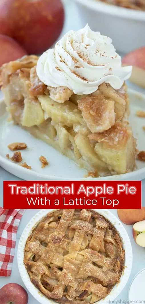Traditional Apple Pie With A Lattice Top Recipe Traditional Apple Pie Apple Pie Apple Pie Lattice