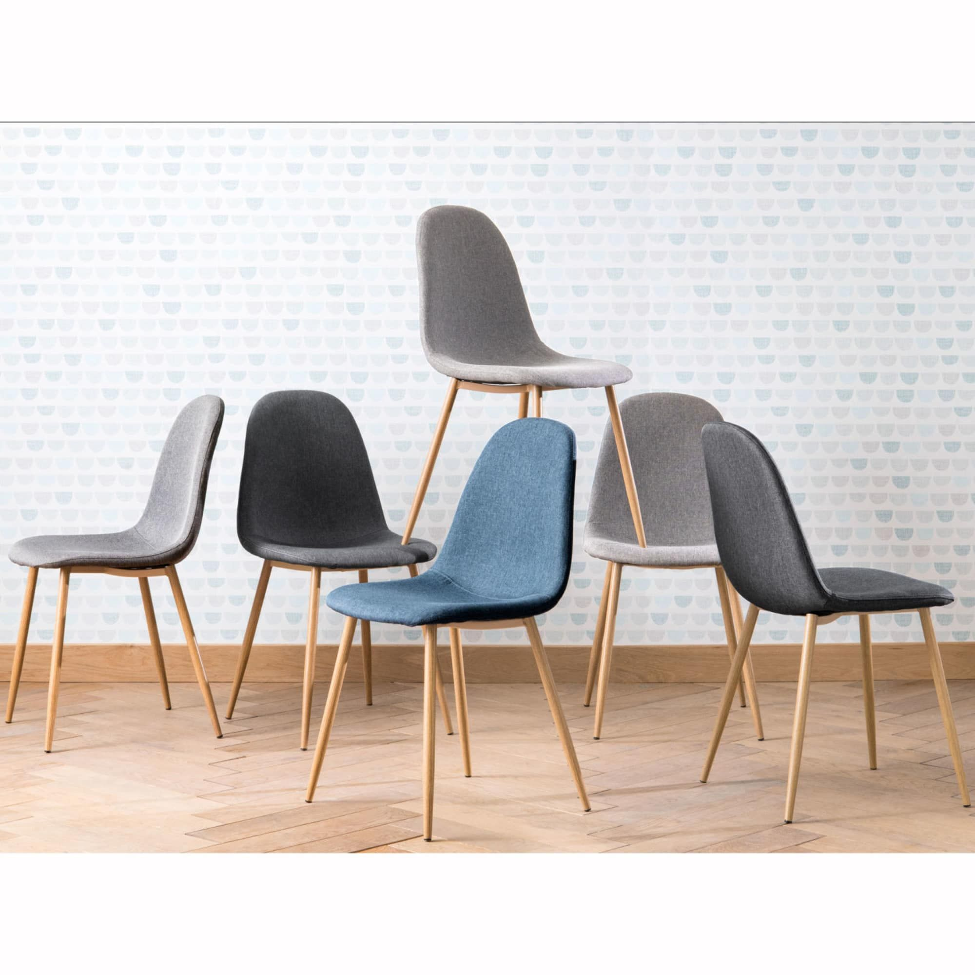 Grey Fabric Metal Chair Clyde Maisons Du Monde Scandinavian Chairs Scandinavian Dining Chairs White Leather Dining Chairs