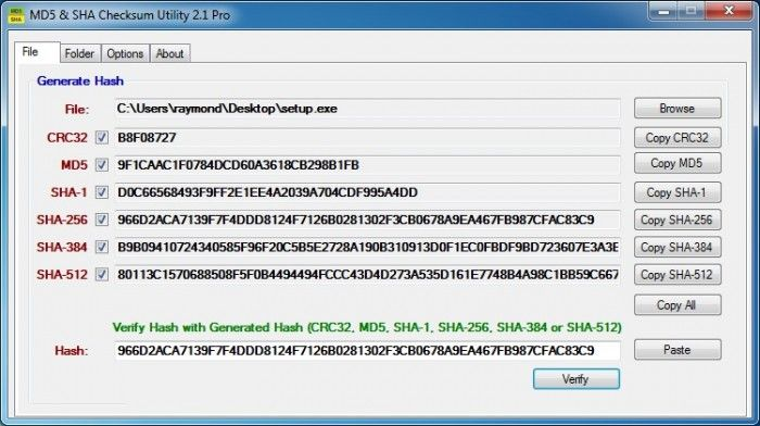 Free Download MD5 \ SHA Checksum Utility Offline Installer - free resume downloader