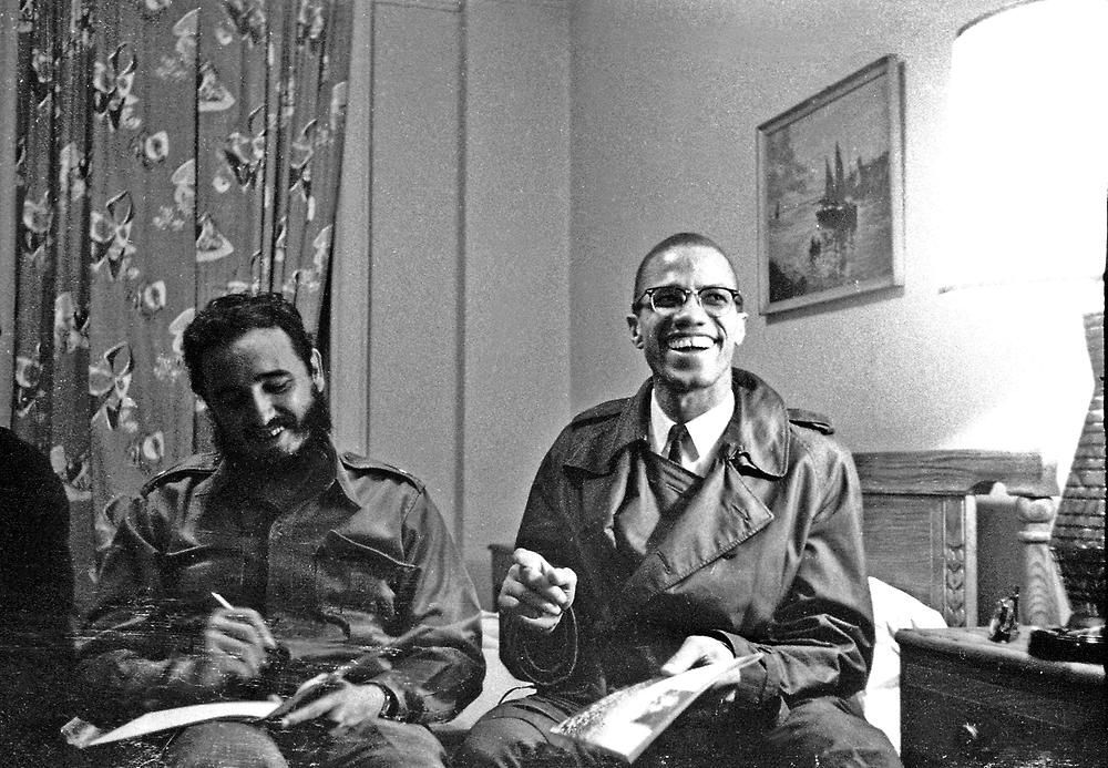 Malcolm X And Fidel Castro Malcolm x fidel castro   Malcolm X and ...