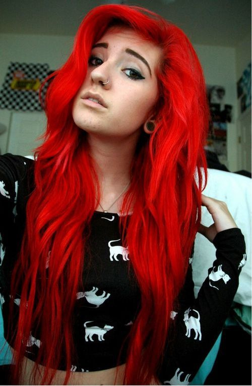 Pin By Tricia Bush On Hairstyles And Colors Hair Styles Bright Red Hair Red Hair Color
