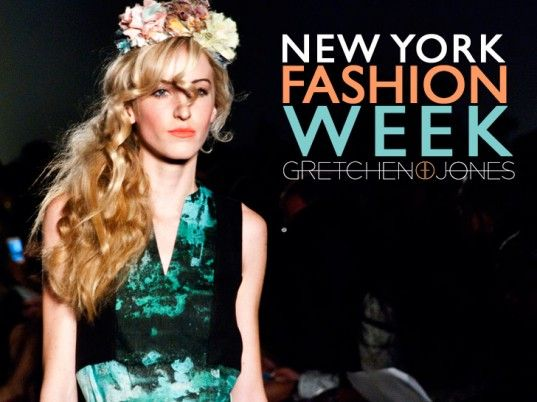 Fashion Week Ad featuring natural-looking waves and flowers.