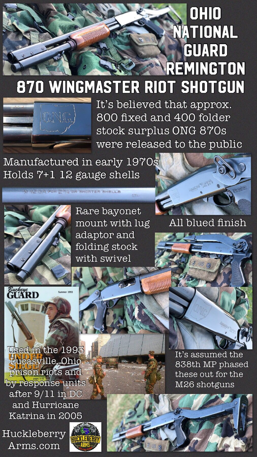 Ohio National Guard Remington 870 Wingmaster Riot Shotgun With Info Shotguns Remingtonshotguns Remington870 Remington870diagram Rare Follow Us For More