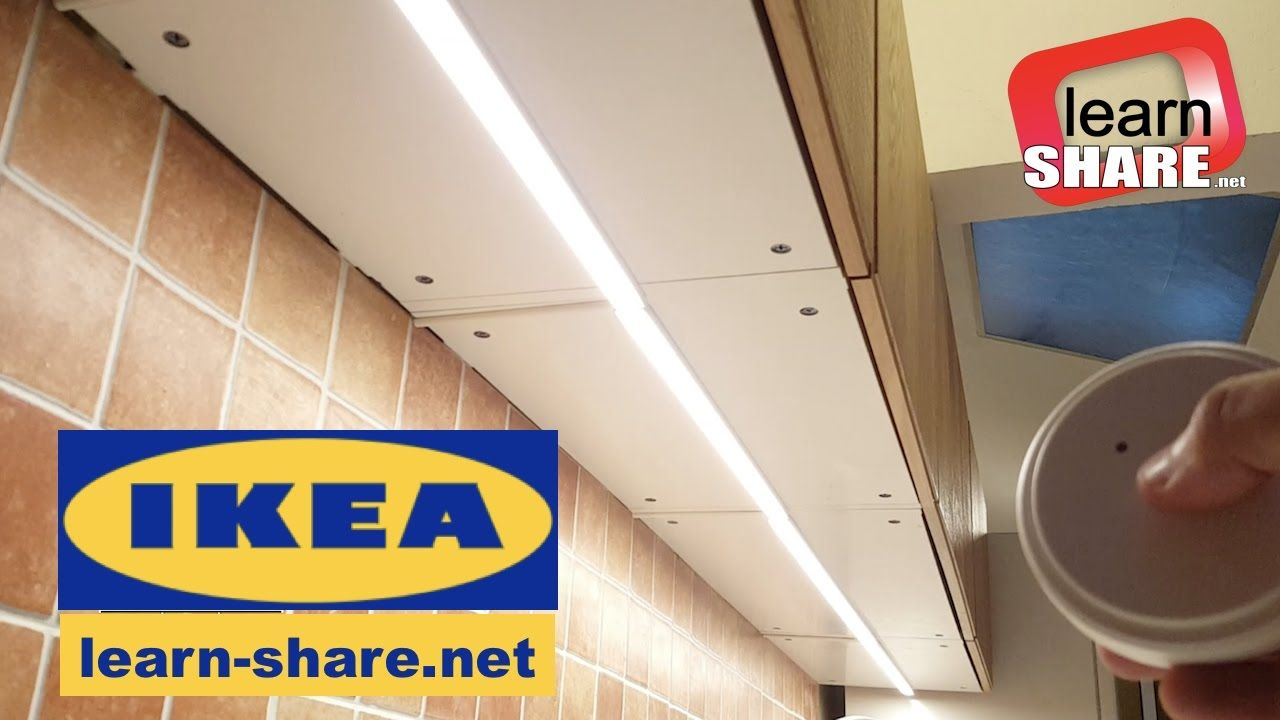 Ikea Kitchen Lighting Omlopp How To Install Countertop Led Light Youtube Cuisine Bricolage